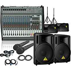 Behringer PMP6000 / B212XL Mains Monitors & Mics Package (PMP6000B212XL)