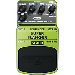Behringer Super Flanger SF400 Guitar Effects Pedal (SF400)