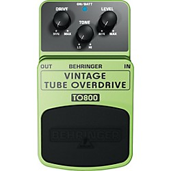 Behringer TO800 Vintage Tube Overdrive Guitar Effects Pedal (TO800)