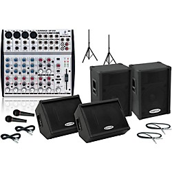 Behringer UB1202 / KPC15P Mains & Monitors Package (UB1202KPC15PMM)