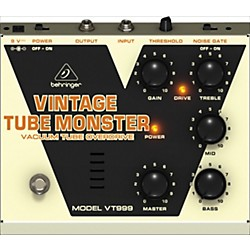 Behringer VT999 Vintage Tube Monster Classic Tube Overdrive Guitar Effects Pedal (VT999)