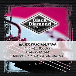 Black Diamond Light Gauge Nickel Wound Electric Guitar Strings (N477L)