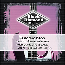 Black Diamond Medium Nickel Roundwound Long Scale Bass Strings (N500M)