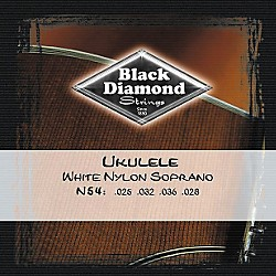 Black Diamond N54 White Nylon Soprano Ukulele Strings (N54)