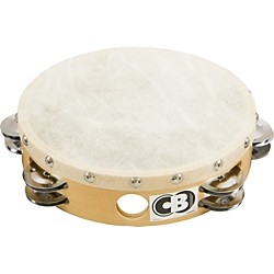 "CB Percussion 4034 Double Row 8"" Calf Skin Tambourine (4034)"
