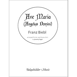 Carl Fischer Ave Maria (Angelus Domini) - for Brass Choir (BQ127)