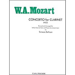 Carl Fischer Concerto For Clarinet (K622) (W1668)