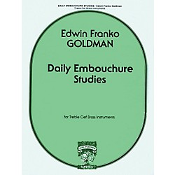 Carl Fischer Daily Embouchure Studies for Treble Clef Brass Instruments by E.F. Goldman (W1201)