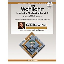 Carl Fischer Foundation Studies for the Viola - Book 2 (from Opp. 45 and 74) Book/DVD (O2660X)