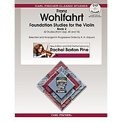 Carl Fischer Foundation Studies for the Violin, Book 2 (Book + DVD) (O2466X)