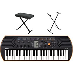 Casio SA-76 Keyboard with Stand and Bench (CASIOSA76K1)