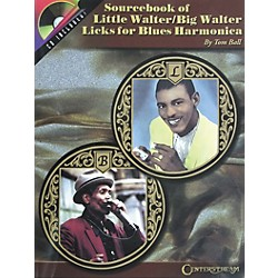Centerstream Publishing Sourcebook of Little Walter/Big Walter Licks for Blues Harmonica Book with CD (276)