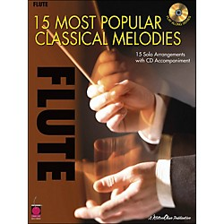 Cherry Lane 15 Most Popular Classical Melodies For Flute Book/CD (2500736)