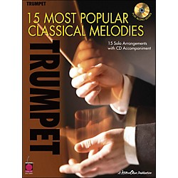 Cherry Lane 15 Most Popular Classical Melodies For Trumpet Book/CD (2500740)