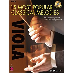Cherry Lane 15 Most Popular Classical Melodies For Viola Book/CD (2500744)