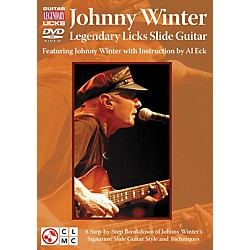 Cherry Lane JOHNNY WINTER LEGENDARY LICKS SLIDE GUITAR DVD (2501042)