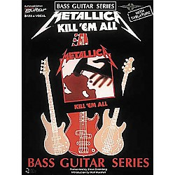 Cherry Lane Metallica - Kill 'em All Bass Guitar Series Tab Songbook (2507039)