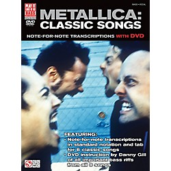 Cherry Lane Metallica Classic Songs For Bass - Note For Note Transcriptions with DVD (2501627)