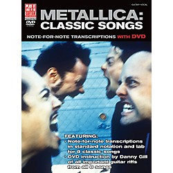 Cherry Lane Metallica Classic Songs For Guitar - Note For Note Transcriptions with DVD (2501626)
