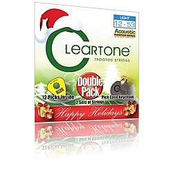 Cleartone Buy 1, Get 1 Free - Light Acoustic Guitar Strings - Holiday Pack (7412-2H)