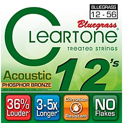 Cleartone Coated Phosphor-Bronze Bluegrass Acoustic Guitar Strings (7423)