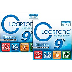 Cleartone Extra-Light Coated Electric Guitar Strings (2-Pack) (XL 2 PK KIT)