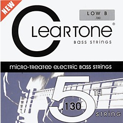 Cleartone Micro-Treated Low B Electric Bass Guitar Strings (64-130)