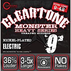 Cleartone Monster Black Series Super Light Electric Guitar Strings (C9509B)
