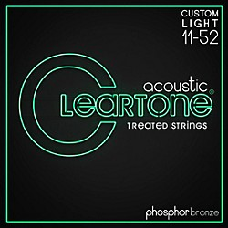 Cleartone Phosphor-Bronze Extra Light Acoustic Guitar Strings (7411)