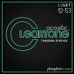 Cleartone Phosphor-Bronze Light Acoustic Guitar Strings (7412)
