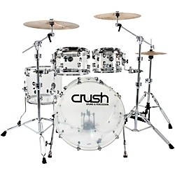 "Crush Drums & Percussion Acrylic 4-Piece Shell Pack with 20"" Bass (A2C400-C Kit)"