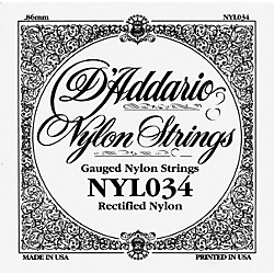 D'Addario 034 Rectified Nylon Guitar Strings (NYL034)
