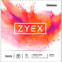 D'Addario DZ612 Zyex 3/4 Bass Single D String (DZ612 3/4L)