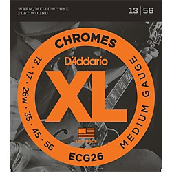 D'Addario ECG26 Chromes Medium Gauge Electric Guitar Strings (ECG26)