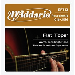 D'Addario EFT13 Flat Top PB Resophonic Acoustic String Set (EFT13)
