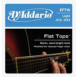 D'Addario EFT16 Flat Top PB Light Acoustic Guitar Strings (EFT16)