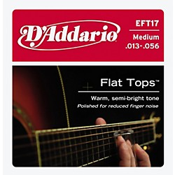 D'Addario EFT17 Flat Top PB Medium Acoustic Guitar Strings (EFT17)