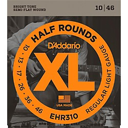 D'Addario EHR310 Half Round Regular Light Electric Guitar Strings (EHR310)