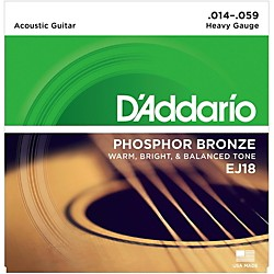 D'Addario EJ18 PB Heavy Acoustic Guitar Strings Set (EJ18)