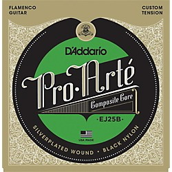 D'Addario EJ25B Pro-Arte Composites Flamenco Guitar Strings - Black Nylon (EJ25B)