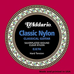 D'Addario EJ27H Classical Guitar Strings Hard Tension (EJ27H)