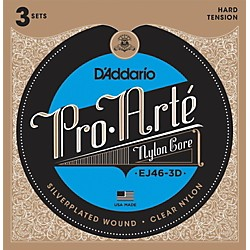 D'Addario EJ46 Pro-Arte Classical Guitar Strings 3-Pack (EJ46-3D)