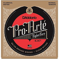 D'Addario EJ47 Pro-Arte 80/20 Bronze Normal Tension Classical Guitar Strings (EJ47)