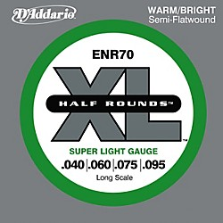 D'Addario ENR70 Half Rounds Bass Strings Super Lt Long Scale (ENR70)