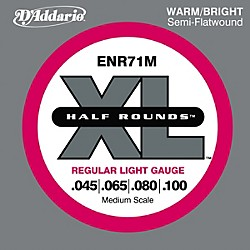 D'Addario ENR71M Half Rounds Light Bass Strings (ENR71M)
