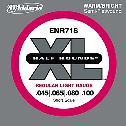 D'Addario ENR71S Half Rounds Light Bass Strings (ENR71S)