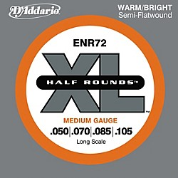 D'Addario ENR72 Half Rounds Medium Bass Strings (ENR72)