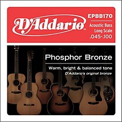 D'Addario EPBB170 PB Soft Acoustic Bass String Set (EPBB170)