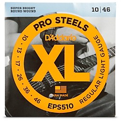 D'Addario EPS510 ProSteels Light Electric Guitar Strings (EPS510)