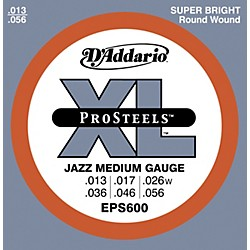 D'Addario EPS600 ProSteels Jazz Medium Electric Guitar Strings (EPS600)